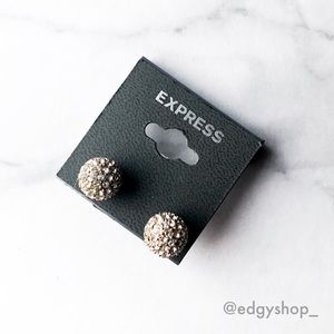 [Express] Pave Globe Stud Earrings